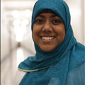 Smiling woman wearing hijab