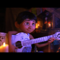 Animated boy plays guitar