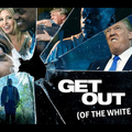 Images of Black man with White woman and White man spliced into shattered glass against black background with white text