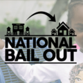 "Little Black girl, words: ""National Bail Out."""