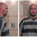 Roy Oliver. Mug shot photos of White man in black and gray stripped top.