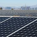 A solar generating station at the Nellis Air Force Base on February 16, 2016, in Las Vegas, Nevada.