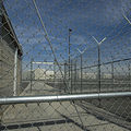 Chain link fences and razor wire