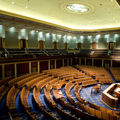 Hundreds of empty seats in the the U.S. House of Representatives chamber