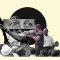 A collage of news clippings symbolizes urban unrest in the late '60s