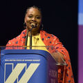 Patrisse Cullors speaking at the United State of Women Summit 2018