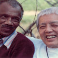 James and Grace Lee Boggs smile for a photo together