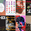 Two rows of four book covers including the collected schizophrenias, pleasure activism, how we fight white supremacy, halal if you hear me, thick, we live for the we, the good immigrant and our history is the future