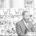 Martin Luther King at a podium