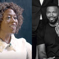 Alfre Woodard and Jamie Foxx. A middle-aged Black woman with brown curly hair and Black man with short hair cut.