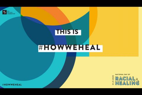 "Colorful swirls, black text reads ""This is #HowWeHeal."""
