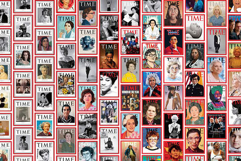 100 Women of the Year. Collage of TIME Magazine covers from March 2020.