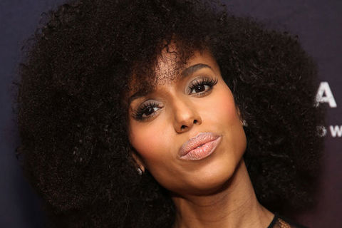 Kerry Washington. Black woman with big dark hair.