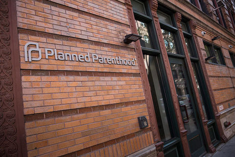 Shot of exterior of Planned Parenthood clinic in Manhattan.