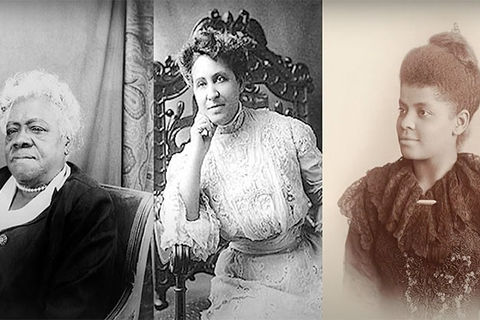 Mary McLeod Bethune, Mary Church Terrell and Ida B. Wells. Archival images of Black suffragettes.