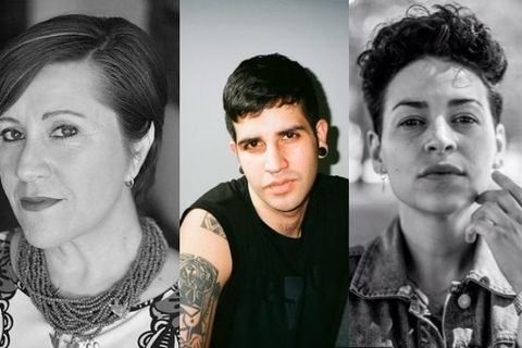 From left to right: Poets Norma Liliana Valdez, Christopher Soto, Denice Frohman