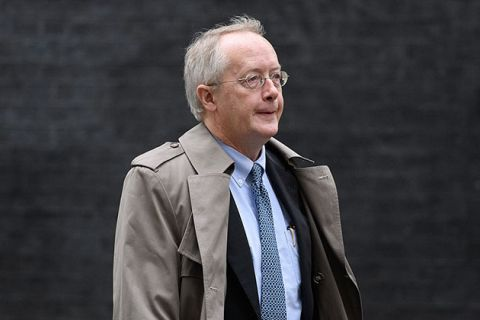 "President Donald Trump's Environment adviser Myron Ebell arrives for a meeting at Downing Street on January 31, 2017, in London, England. Ebell has referred to the environmental movement as the ""greatest threat to freedom."""