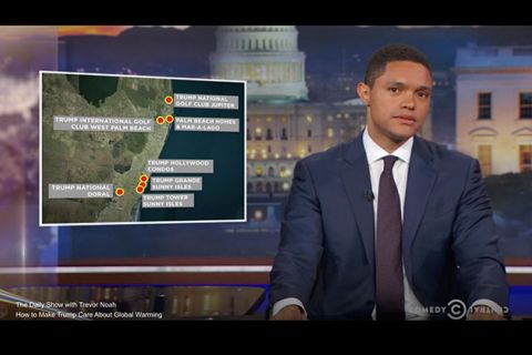 Colorlines screenshot of The Daily Show video, taken on May 4, 2017.