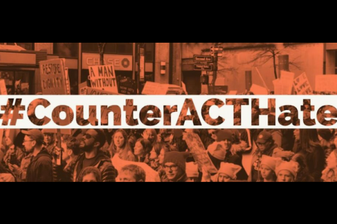 Graphic says, #CounterACTHate