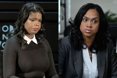 L to R: Kim Foxx and Marilyn Mosby
