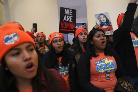 Immigration Activists And Dreamers Protest