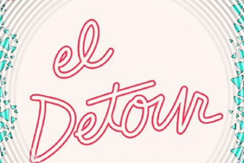 "Red cursive lettering reads ""El Detour"" on white background."
