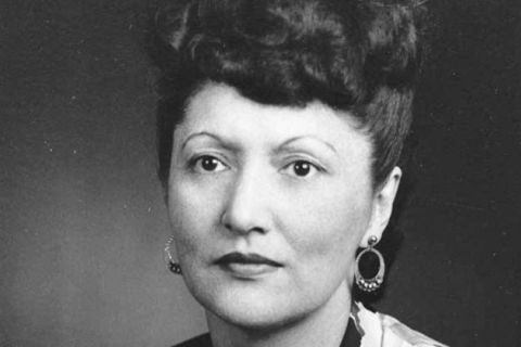 Elizabeth Peratrovich. Native Alaskan woman with dark hair.