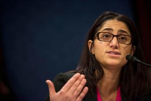 Mona Hanna-Attisha, director of the Pediatric Residency Program at Hurley Medical Center, at the Capitol on February 10, 2016, in Washington, D.C. A year ago, she exposed the blood lead levels of Flint children.