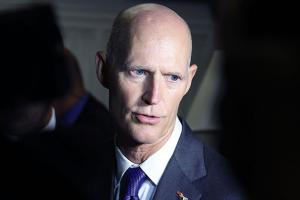 Florida Gov. Rick Scott, speaks to the media after meeting with House Congressional members on September 14, 2016, in Washington, D.C. to discuss efforts to eradicate the Zika virus in Florida.