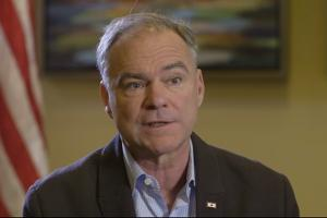 Colorlines screenshot of Fusion interview with Tim Kaine, taken on November 8, 2016.