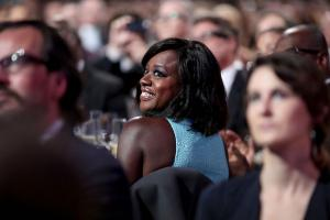 Viola Davis in crowd of people