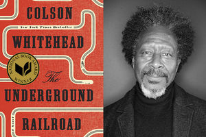 Book cover, black and white headshot of Clarke Peters