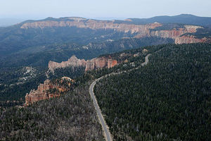 An aerial view of sandstone formations May 2, 2012, in Bryce Canyon National Park, Utah. This park will be impacted by the repeal of the Bureau of Land Management rule, which oversees all U.S. public lands, including national parks and tribal lands.