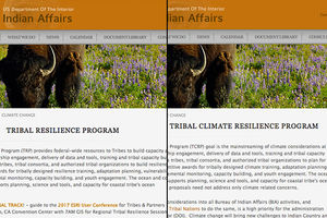 Colorlines screenshot of Bureau of Indian Affairs' website before and after, taken on June 14, 2017.