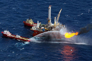 Support ships are seen near the Deepwater Horizon spill site on July 3, 2010, in the Gulf of Mexico off the coast of Louisiana. Jeffrey Bossert Clark was on the legal team representing BP for the incident.