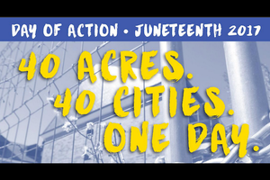 "Text reads: ""40 acres. 40 cities. 1 day."""