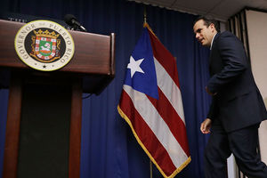 Puerto Rico Gov. Ricardo Rossello at a news conference about the June 11 vote in favor of U.S. statehood June 15, 2017, in Washington, D.C.