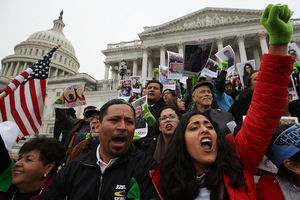 Immigration activists protest On Capitol Hill calling on Congress to pass Clean Dream Act