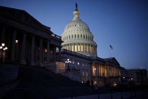 Image of U.S. Capitol building in the evening