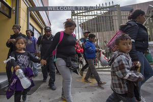 More than 300 immigrants journeyed across Mexico to ask for asylum in the United States
