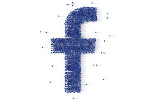 "Conceptual illustration of the Facebook ""f"""