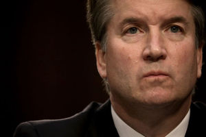 Brett Kavanaugh. White man's face takes up half the frame.