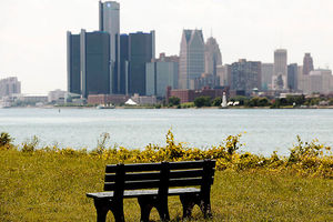 The city of Detroit skyline. This city is home to the nation's largest trash incinerator.