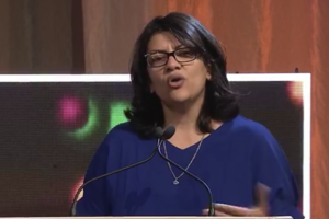 Rashida Tlaib speaks at Creating Change Conference