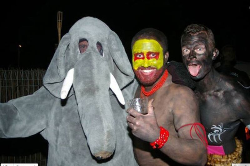 Kkk Halloween Costume Amazon.Africa Themed Party Features Kkk Elephant And Black Face Costumes