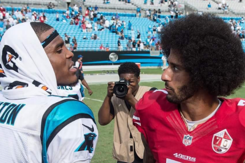 What s Up With Colin Kaepernick and Cam Newton s Expressions in This Pic   35267ac94